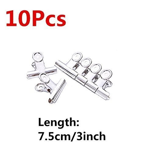 UChic 10PCS 7.5cm/3inch Stainless Steel Chip, Clips Bag Clips, Great for Air Tight Seal Grip on Coffee and Food Bags, Kitchen Home Usage