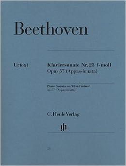 ベートーヴェン: ピアノ・ソナタ 第23番 へ短調 Op.57 「熱情」/ヘンレ社/原典版