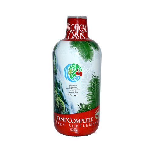 Tropical Oasis Joint Complete -Liquid Joint Support Supplement w/ Glucosamine,