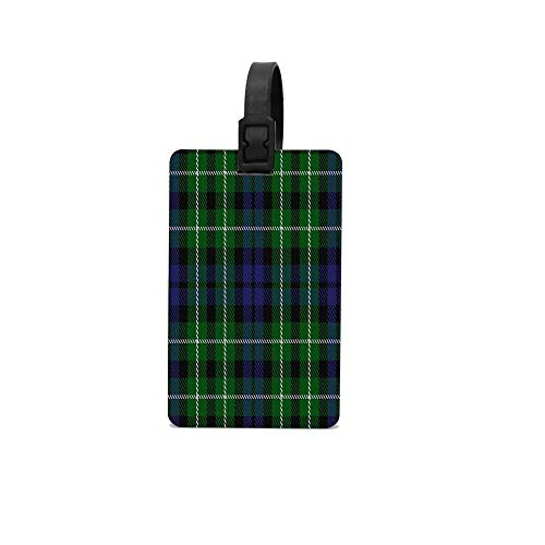 Wbsdfken Graham Of Montrose II Clan Family Colorful PVC Pattern Rubber ID Tags Business Card Holder for Luggage Baggage Travel Identifier, Suitcase Label Fun Trip