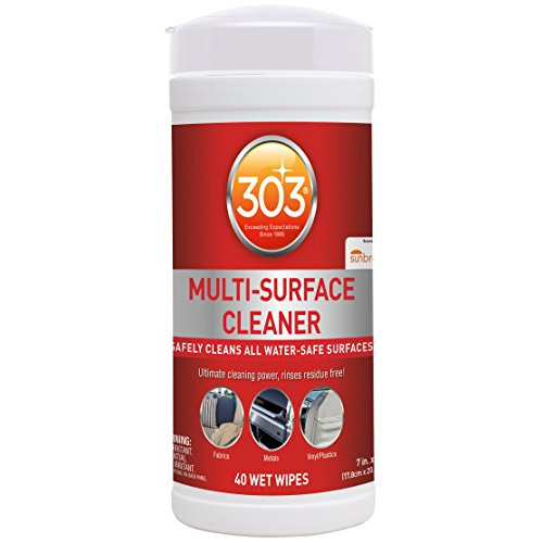 303 Products 30220 303 Multi Surface, All Purpose Cleaner Wipes, 40 Towelettes