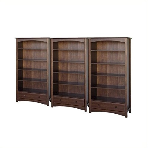 - DaVinci Roxanne 5 Shelf Wall Bookcase in Espresso