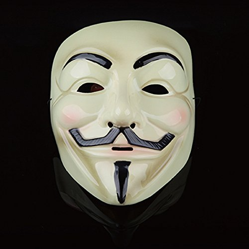 Guizen Máscara/ Careta de V para Vendetta Mask/Anonymous/Guy Fawkes mask-Beige: Amazon.es: Electrónica
