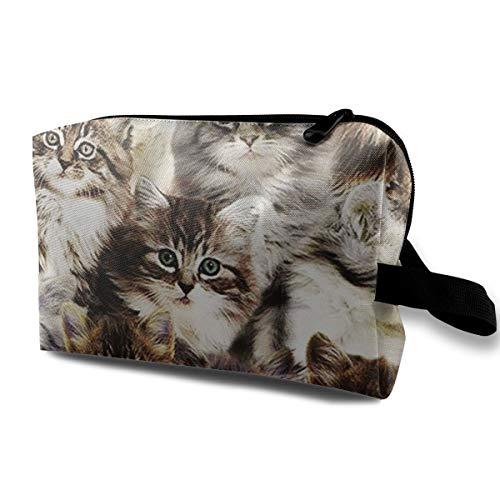 MKJHACKE Cat's Friend Toiletry Bag Multifunction Cosmetic Bag Portable Makeup Pouch Waterproof Travel Hanging Organizer Bag for Women Girls