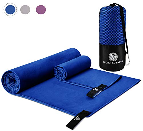 ScorchedEarth Microfiber Travel & Sports Towel (Royal Blue)