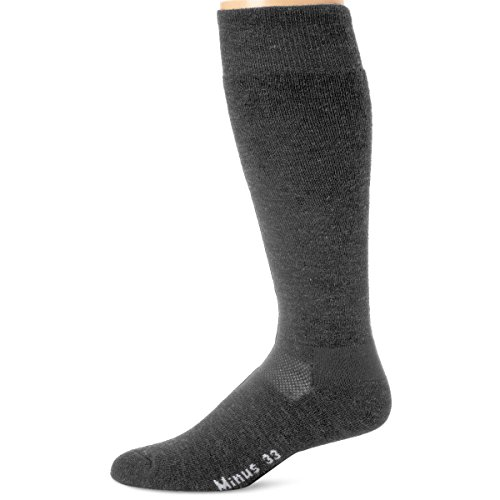 Minus33 Merino Wool Ski and Snowboard Sock Grey Heather XL