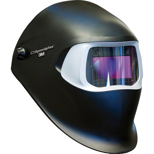 3M Speedglas Black Welding Helmet 100 with Auto-Darkening Filter 100V- Shades 8-12, Model 07-0012-31BL