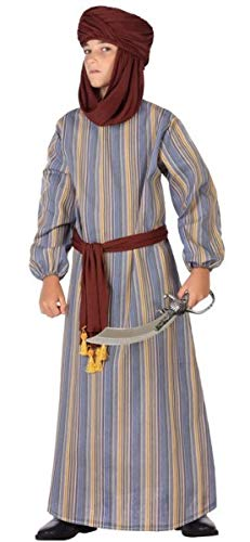 (Boys Girls Striped Arabian Nights Desert Arab Fancy Dress Costume Outfit 3-12 Years (10-12)