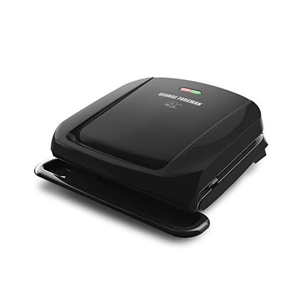 George Foreman GRP1060B 4 Serving Removable Plate Grill, Black 41MWDpgSEXL