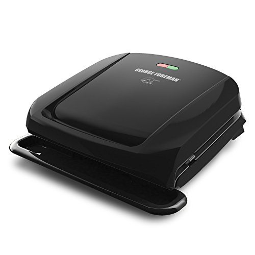 George Foreman 4-Serving Removable Plate Grill and Panini Press, Black, (Best Grill Pans With Presses)