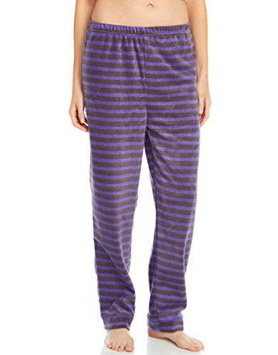 Leveret Fleece Womens Sleep Pants Purple & Grey Medium