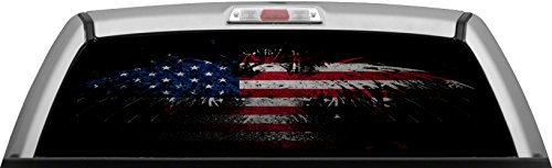 American Flag Dark Pride Glassview By Itigd Truck Rear
