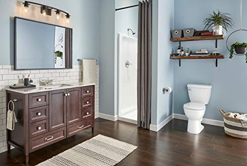 Delta Faucet Toilette à devant rond Haywood en blanc avec siège de toilette à fermeture lente, hauteur de la chaise confort, 1,28 GPF, blanc