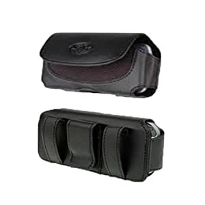 Viesrod FIT WITH LIFEPROOF on it Black Leather Belt Clip Case Pouch For Boost Mobile Kyocera Coast Kona