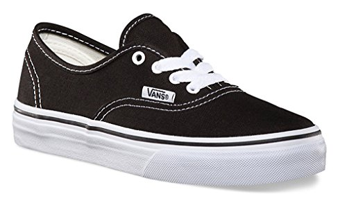 Price comparison product image Vans Kid's Shoes Authentic Black/True White Fashion Sneakers (11.5 M Little Kid's)