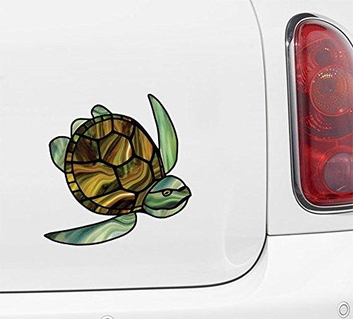 (Yadda-Yadda Design Co. Honu - Sea Turtle - Stained Glass Style - Vinyl Decal Car | Truck | ATV |Outdoor Use - Copyright 2016 YYDC (4.5
