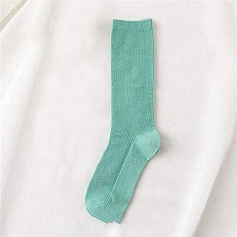 WAESRD Calcetín de algodón para Mujer Calcetines Altos Sólidos Colores sólidos Agujas Dobles Calcetines Largos de algodón para Tejer Mujeres: Amazon.es: Deportes y aire libre