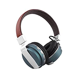 Alltrum Foldable Over-Ear Headphone,Wireless Headsets With Built-in Mic, Stereo Sound,Lightweight,Comfortable Wearing Feeling,Noise Reduction,SD Card,Wired Modes for Phone / PC, Lake Blue