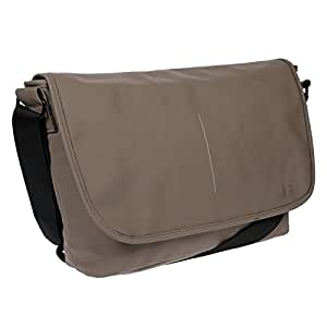 (taupe) - Christian Wippermann Men's Shoulder Bag Brown taupe 46x28x12 cm
