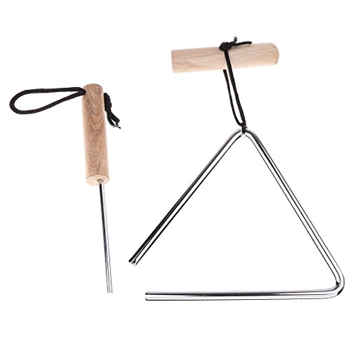 Homyl Novelty Stainless Steel Triangle Instrument with Beater Striker for Church School Club Singing Accessory - 5inch by Homyl