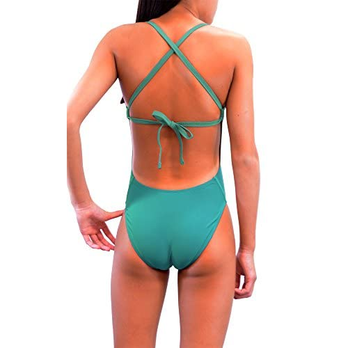 Adoretex Xtra Life Lycra One Piece Tie-Back Swimsuit (FN028) - Teal - 26