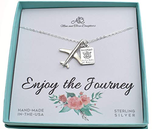 World Traveler Charm necklace on an 18