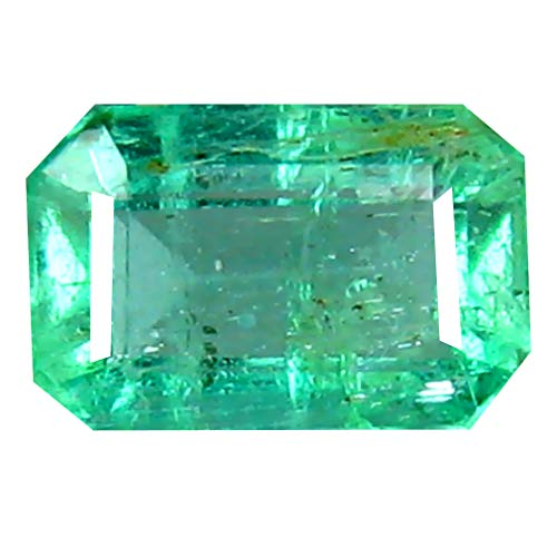 0.46 ct Octagon Cut (6 x 4 mm) Colombian Emerald Natural Loose Gemstone ()