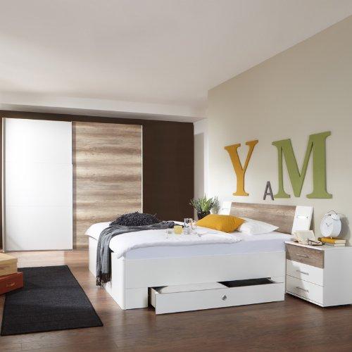 Schlafzimmerset 4-tlg »MODEO« alpinweiß - Wildeiche