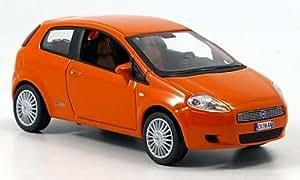 Fiat Grande Punto, anaranjado, 3 puertas , 2005, Modelo de Auto, modello completo, Norev 1:43