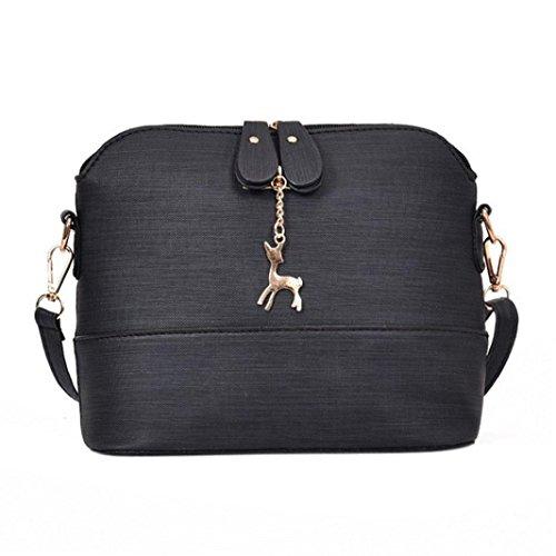 Bags Bag Cross Messenger Handbag Leather Shell Vintage Fashion Black Packet Women Saingace Casual RqI1nxT
