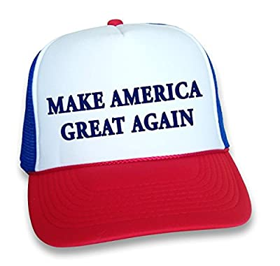 MAKE AMERICA GREAT AGAIN HAT Donald Trump for President 2016 Campaign Button Cap