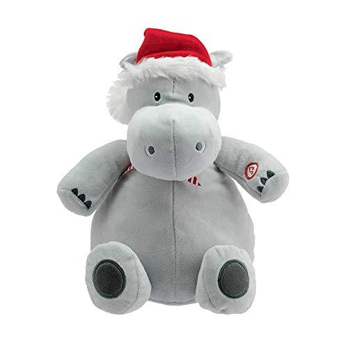 (Hallmark Plush Stuffed Hippopotamus with Sound, Christmas Themed Stuffed Animal)
