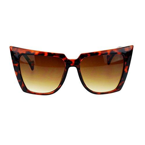 Womens 80s Punk Goth Devil Horn Cat Eye Sunglasses - Sunglasses Goth