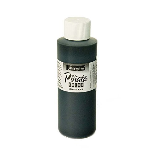 Pinata Mantilla Black Alcohol Ink That by Jacquard, Professional and Versatile Ink That Produces Color-Saturated and Acid-Free Results, 4 Fluid Ounces, Made in The USA by Jacquard