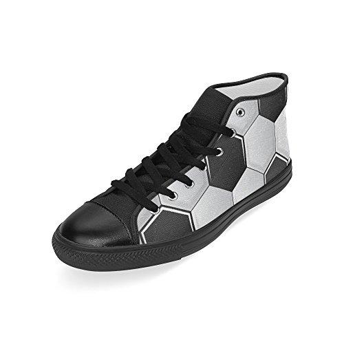 D-histoire Personnalisé Football Hommes Haut Haut Toile Chaussures Mode Sneaker