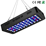 Lxyoug LED Auqarium Light 165W Dimmable Full Spectrum Auqarium Fish Tank LED Reef Decoration Light for Saltwater Freshwater Fish Coral Reef