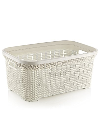 Superio Knit Style Laundry Basket, 1.15 Bushel - Basket Knit