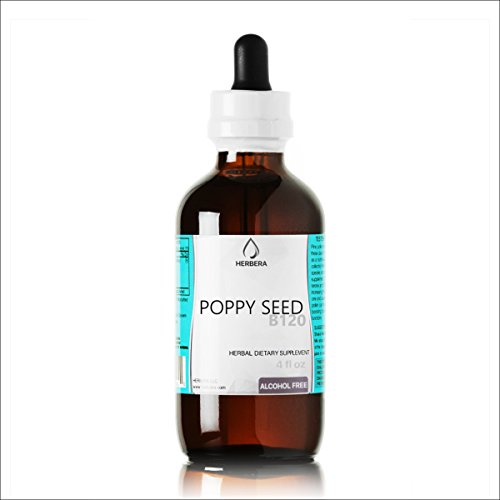 Price comparison product image Poppy Seed B120 Alcohol Free Herbal Extract Tincture, Super-Concentrated Organic Poppy Seed (Papavier Somniferum) (4 fl oz)