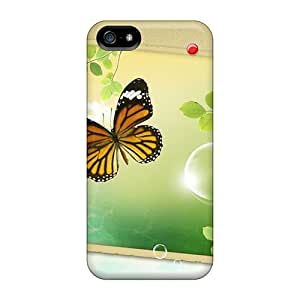 Protective Hard Cell-phone Cases For Iphone 5/5s With Custom Lifelike Butterfly Pictures JonBradica