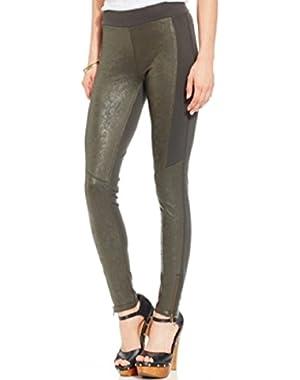 Jessica Simpson Juniors Ankle-zip Leggings Gothic Olive S