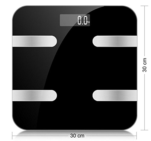 LUOYIMAN Wireless Scale Body Weight Scale Fat BMI Digital Scale Backlit LCD Precision/Accurate Measurements APP for IOS Android