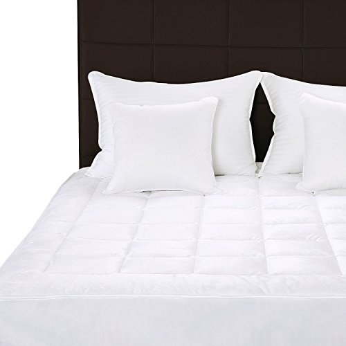 quilted fleece mattress pad queen mattress cover stretches up to 16 inches deep fleece mattress topper and mattress protector by utopia bedding