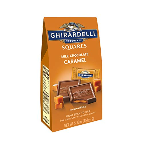 Ghirardelli Milk & Caramel Filled Squares Bag, 5.32 Ounce (Pack of 6) ()
