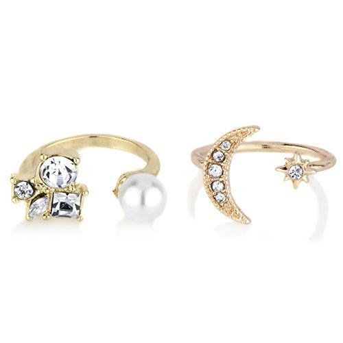 Goldtone Adjustable Ring Set -
