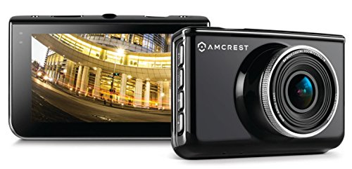 [Amcrest Full-HD 1080p Dash Camera ACD-830B (Black) Car DVR Dashcam with 16GB Micro SD Card, Suction Cup Mounting Bracket, 160 Degree Wide Viewing Angle] (160 Degree Viewing Angle)