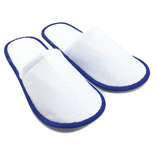 Disposable Slippers - TOOGOO20 pairs of White Towelling