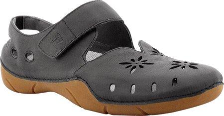 Propet Women's Chickadee Shoe,Black,8 2E (Washable Leather Walking Shoe)