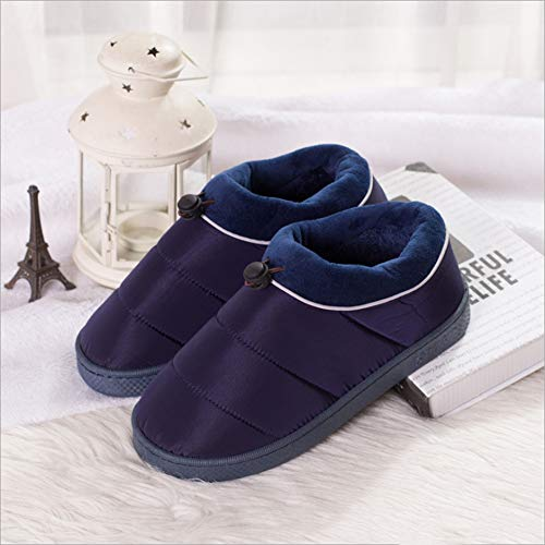 Non Casual Women Men's Couple Cotton Home amp;kate Indoor Navy Shoes slip Slippers William Warm Thicken 0fAwxq