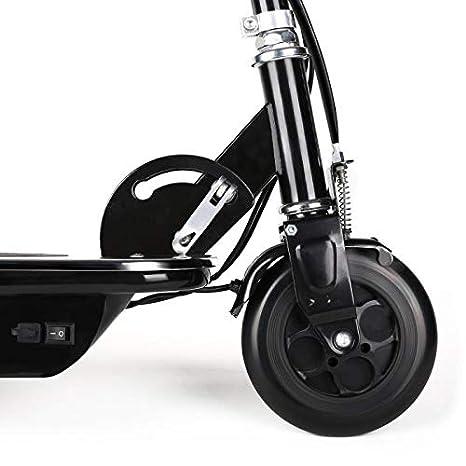 Takira V8 Black Edition - Patinete eléctrico, Velocidad 16 km/h, Batería 6/8 h, Motor 120 W, Frenos Frontal/Posterior, Manillar Regulable, Ruedas ...