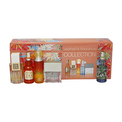 Liz Claiborne Designer Fragrance Women's Collection Women Giftset (Eau De Parfum Spray Bora Bora, Eau De Toilette Spray Curve Kicks, Eau De Toilette Spray Curve, Eau De Toilette Spray Candies, Eau De Parfum Spray Liz)